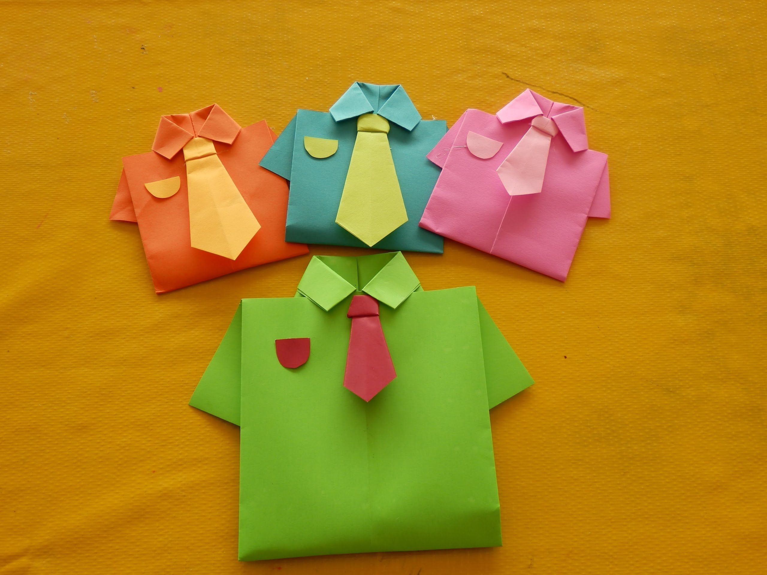 Origami shirt & tie- great for father\'s day (dia de los padres ...