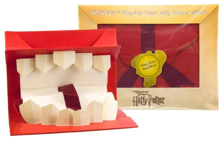 Wizarding World Of Harry Potter HOWLER Pop Up Card With Recordable Sound Effect Record Your Own Sounds