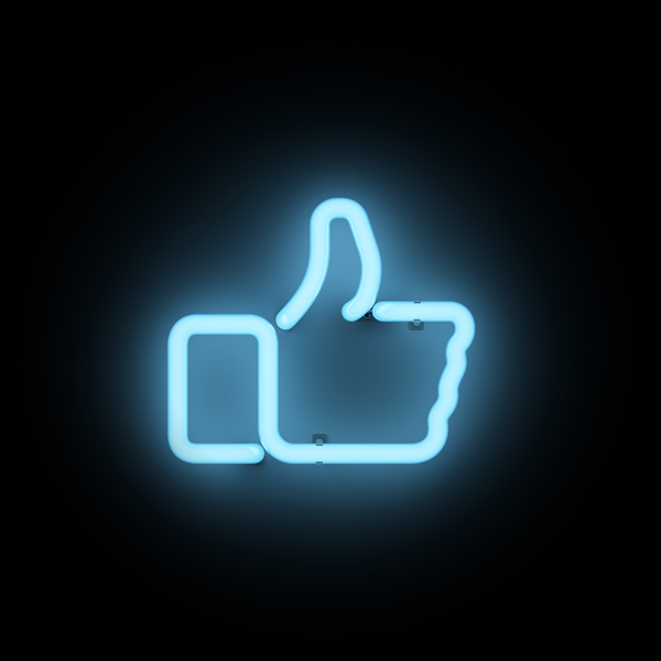 Facebook Like Neon Light Facebook Neon Logo Neon Logo Neon Wall Art