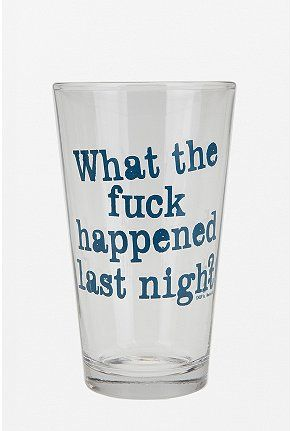 Not your ordinary pint glass...