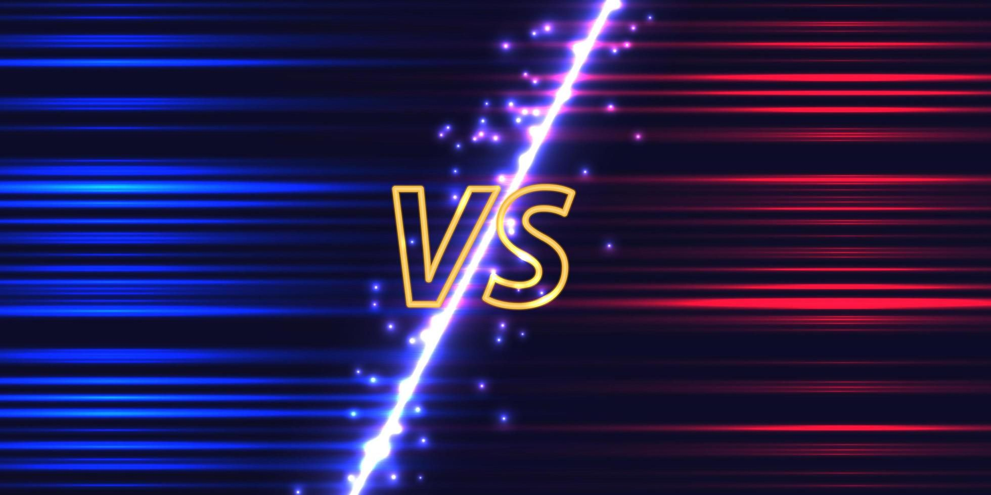 Download Versus screen with neon glow for free