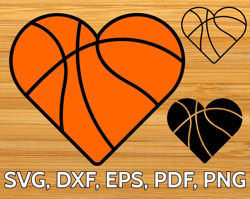 Heart Shaped Basketball Svg Basketball Heart Silhouette Paper Cricut