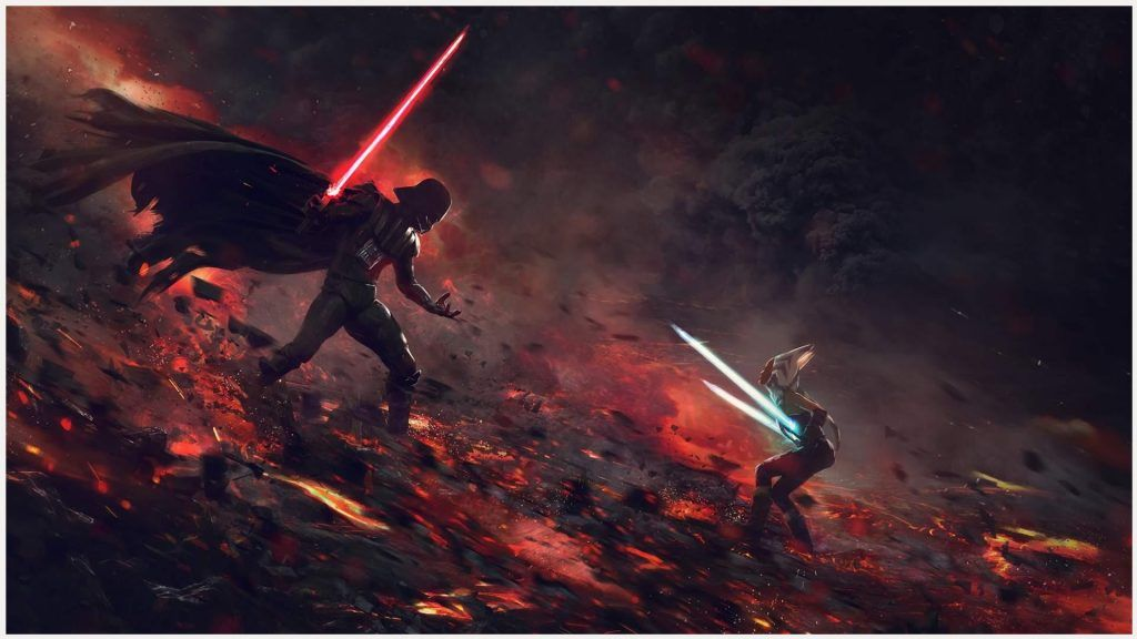 Ahsoka Tano Vs Darth Vader Wallpaper ahsoka tano vs