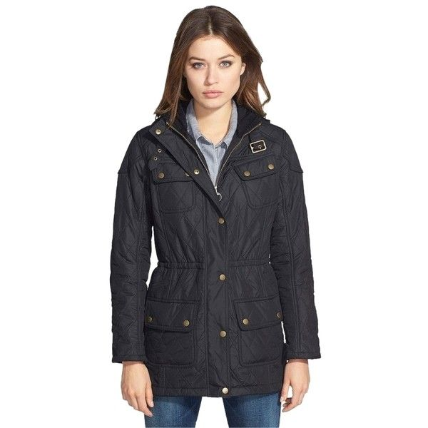 Pre-owned Barbour Arrow Quilted Anorak Parka Coat Black Jacket ... : quilted anorak - Adamdwight.com