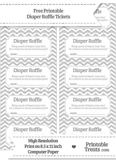 photograph about Diaper Raffle Tickets Printable Free identify Free of charge Silver Chevron Diaper Raffle Tickets Mommys