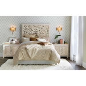 Home Decorators Collection Chennai White Wash Nightstand-9467900410 - The Home Depot