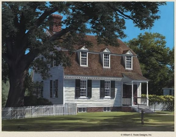 William E Poole Designs Tayloe House Colonial House Plans Colonial House Cape Cod House