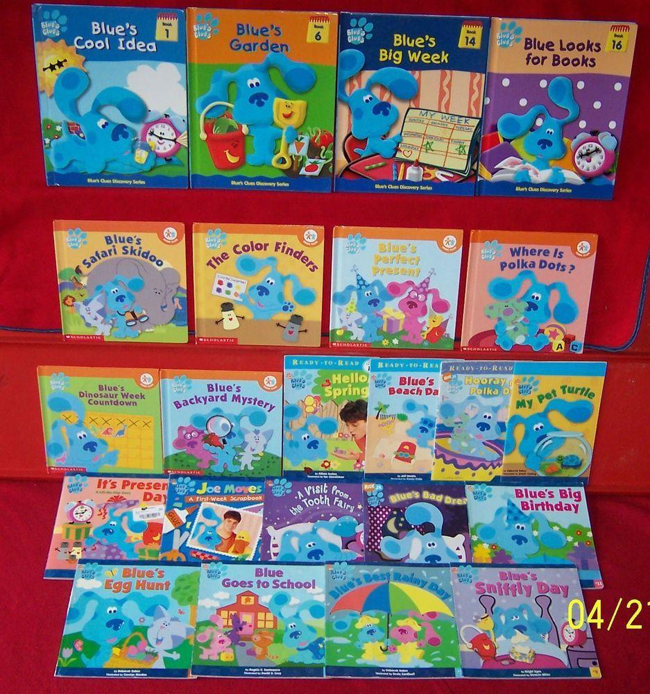 Blue S Clues Books 18 Nick Jr Hc Sc Readers Discovery 8 X 8 Square Ages 3 7 Blues Clues Book Blues Clues Preschool Books