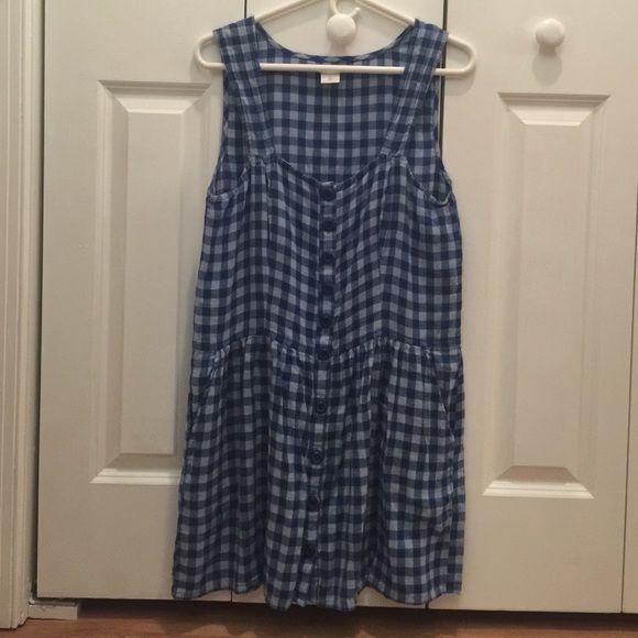 Blue cute 100%cotton dress size L Blue cute 100%cotton dress size L Dresses Midi