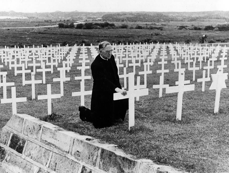 In April of 1947, Father Flanagan had undertaken a humanitarian mission for President Harry Truman in Asia. While in the Philippines, Father met with former boys serving in the military, but he also wanted to remember Boys Town alumni who had given their lives. During World War II, hundreds of former boys listed him as their only next of kin. For this reason, Father Flanagan was declared America's Number One War Dad. | Boystown.org