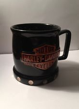 Harley Davidson Coffee MUG CUP 3D Studs Black Orange Gold Stud | eBay