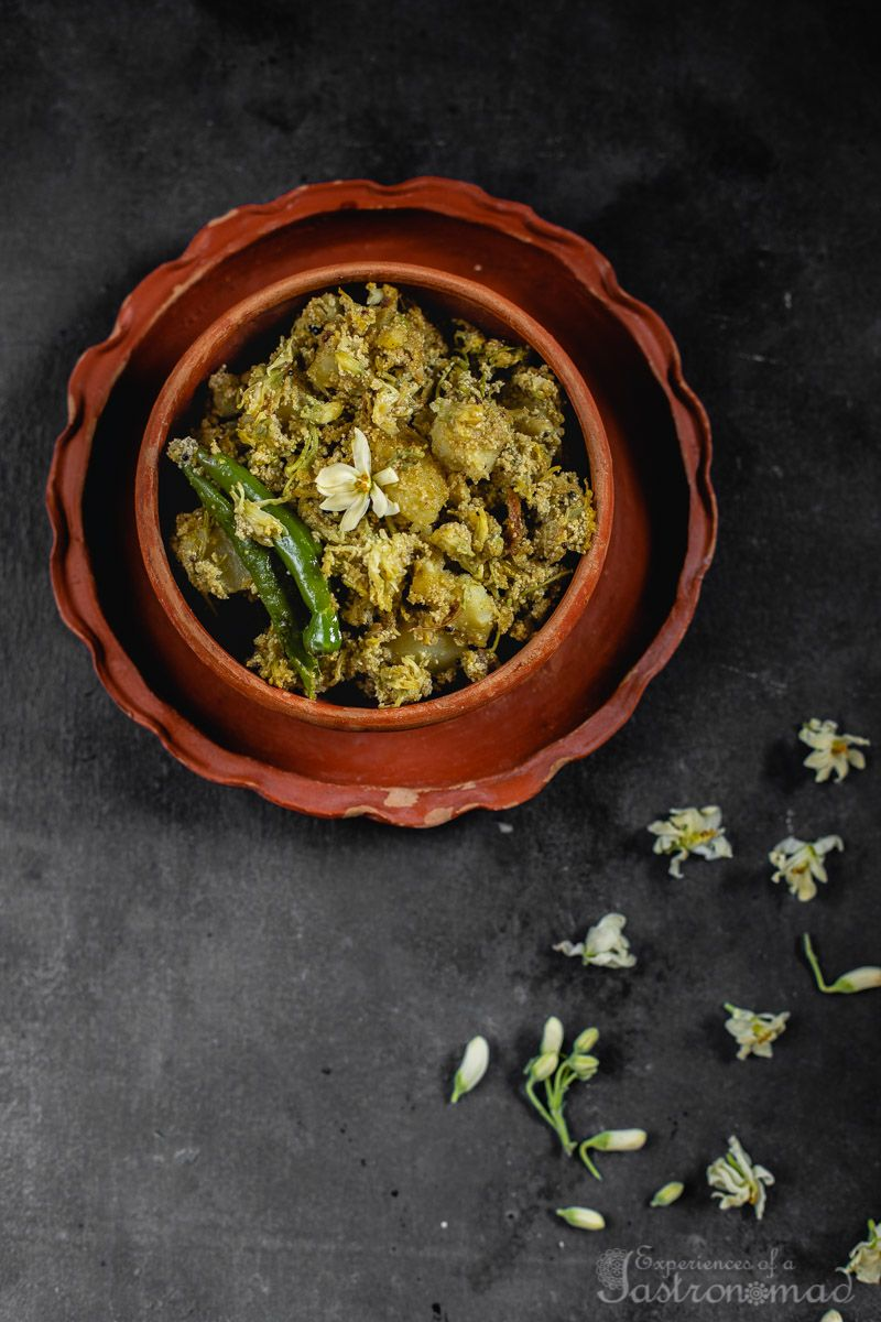 Shojne Phool Posto Moringa Drumsticks Flowers With Poppy Seed Paste Recipe Indian Food Recipes Vegetarian Curry Recipes Indian Curry Recipes