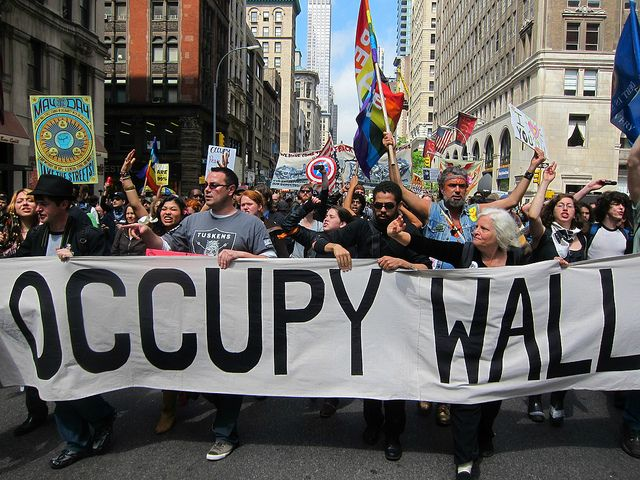 It Is Beautiful To See This Slice Of America Leading The March Of The 99 To Wall Street Union Square Street General Strike