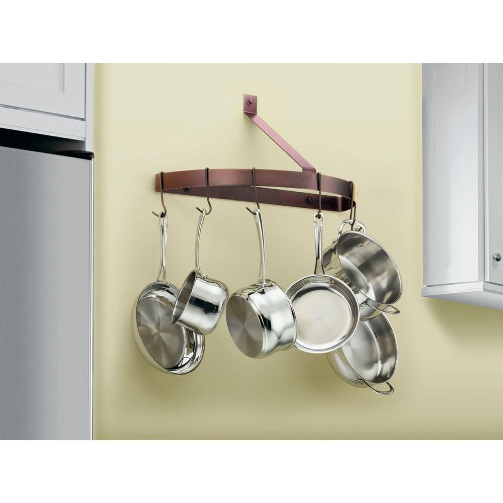 Cuisinart Chef's Classic Cookware Half Circle Wall Rack-CRHC-22ORB - The Home Depot