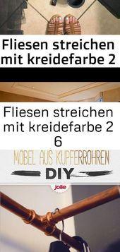 Fliesen streichen mit kreidefarbe 2 6 #fliesenstreichen Das Fliesen streichen mi...