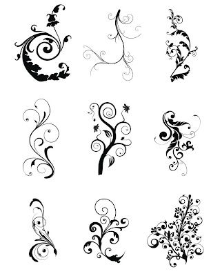 Free SVG Cut Files Even more swirls | Silhouette Freebies! | Svg
