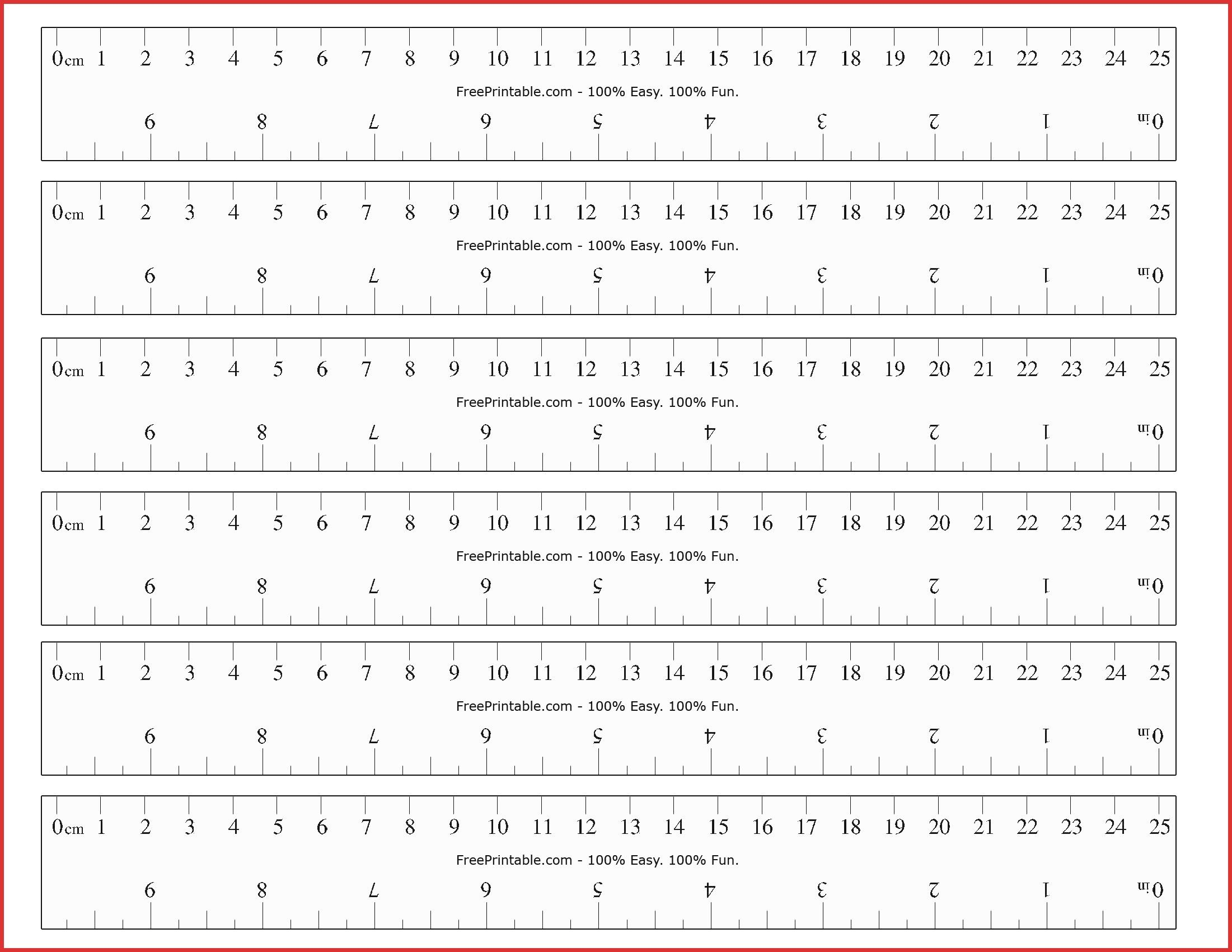 Printable Centimeter Ruler Printable Ruler 06