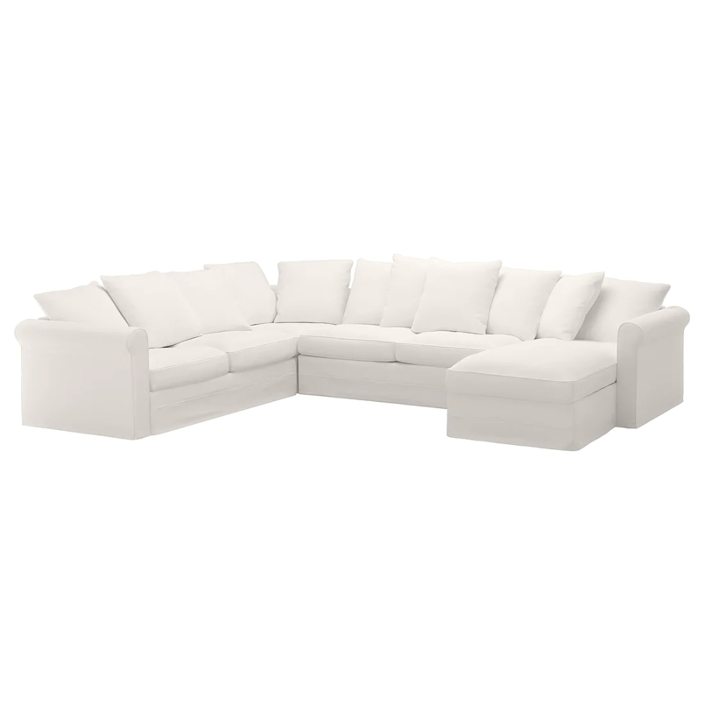 Gronlid Corner Sleeper Sofa 5 Seat With Chaise Inseros White Ikea Sleeper Sofa Corner Sofa Bed Sofa Back Cushions