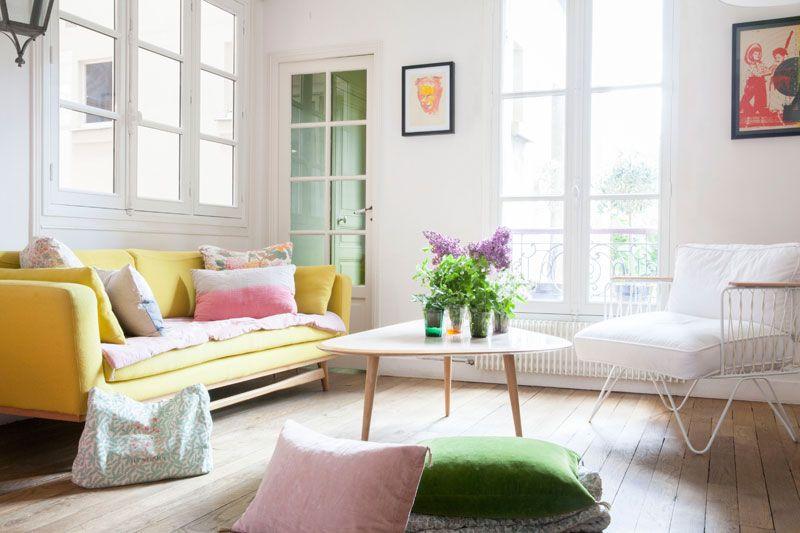 Zu Hause in Paris bei Elise Simian | Strahlen, Pastell und Frisch
