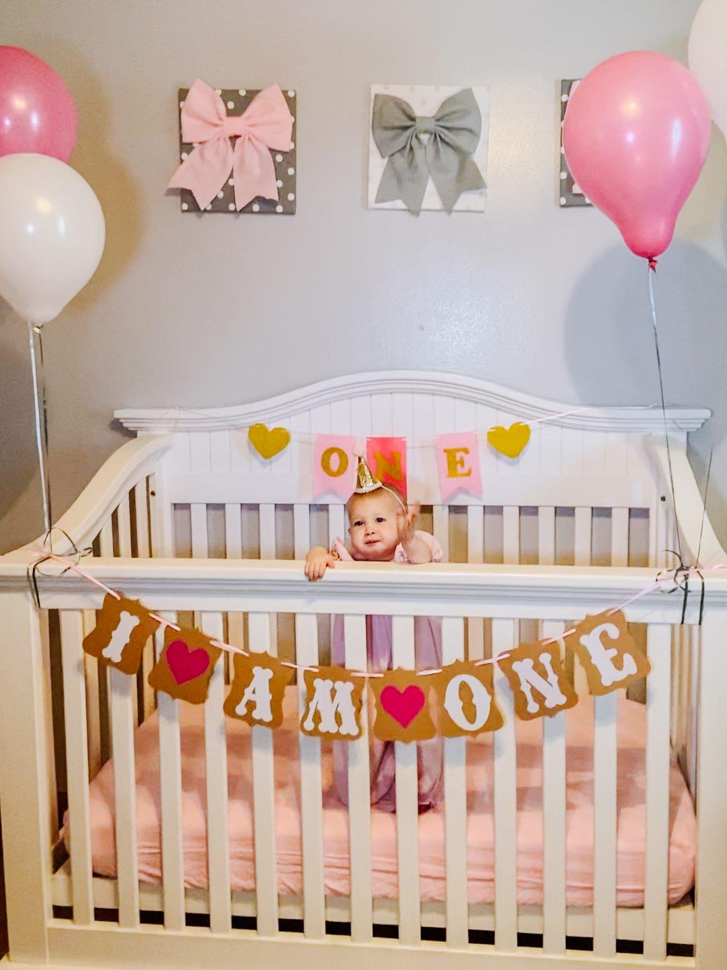 DIY 1st Birthday Crib Photoshoot in 2020 1st birthday
