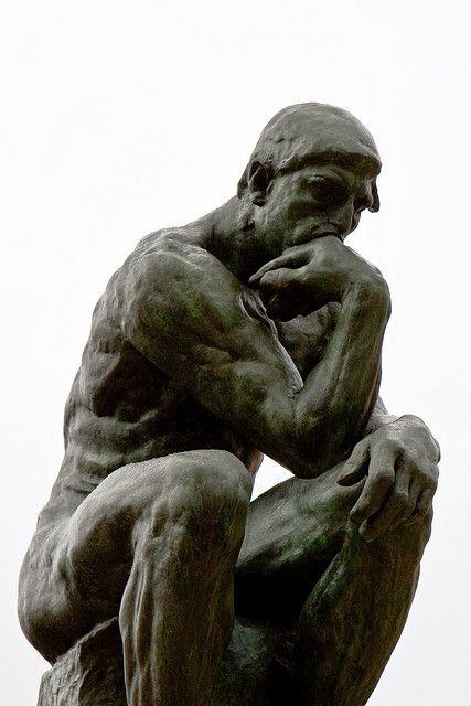 The Thinker, Rodin, Musee Rodin, Paris.