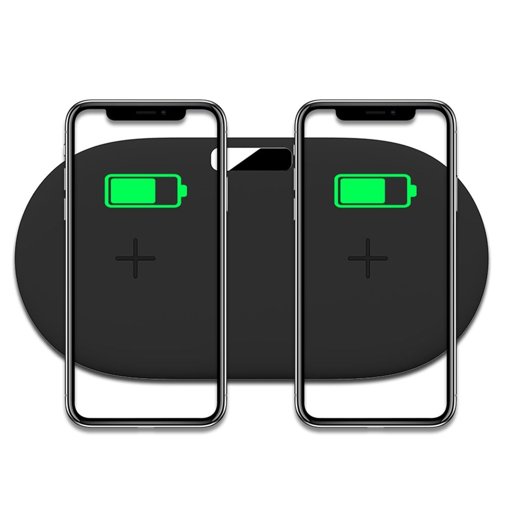 Ascromy 2in1 10w wireless charger pad for iphone x xr xs