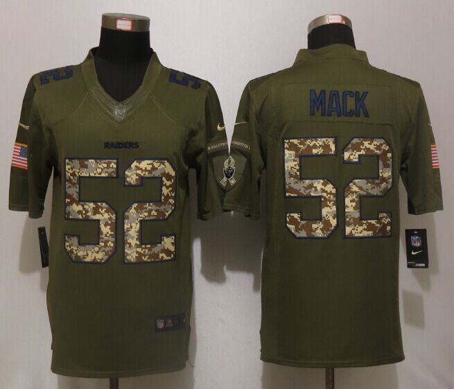 Oakland Raiders 52 Mack Green Salute To Service New Nike Limited Jersey 9102335a2
