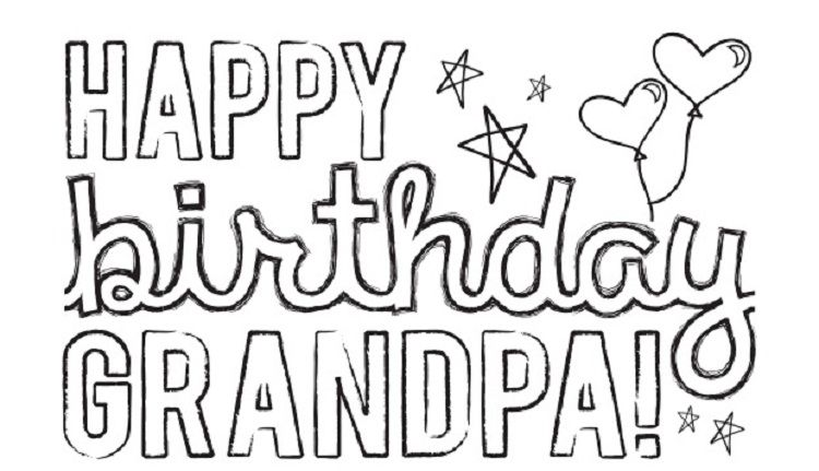 Happy Birthday Coloring Pages For Grandpa Coloring Pages For