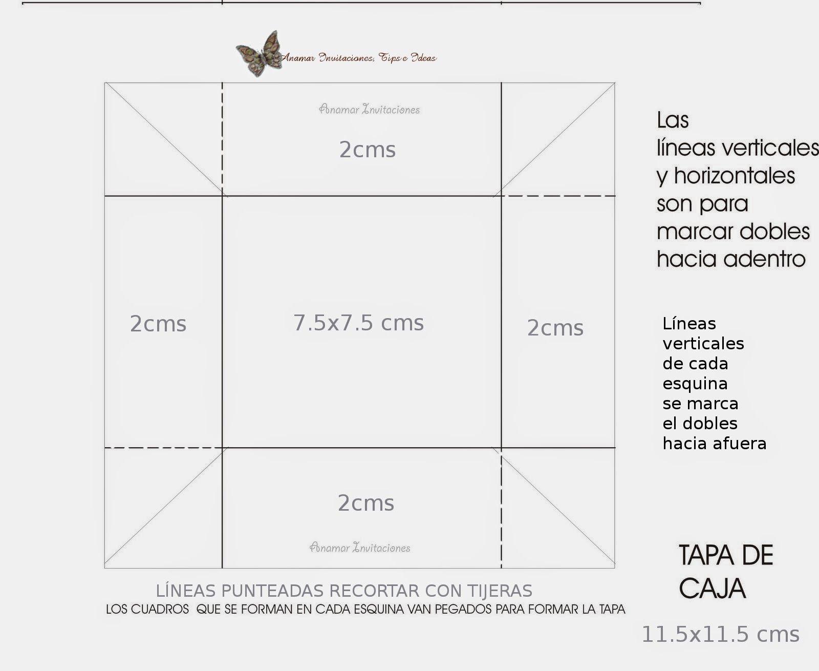 Pin De At Maaarsuarez En Medidas De Caja Cajas Invitaciones