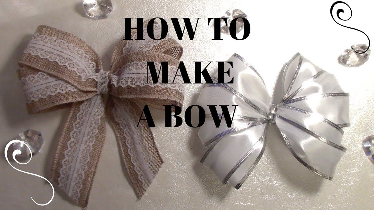 HOW TO MAKE BOWS DOLLAR TREE WIRE EDGE RIBBON BOWS DIY
