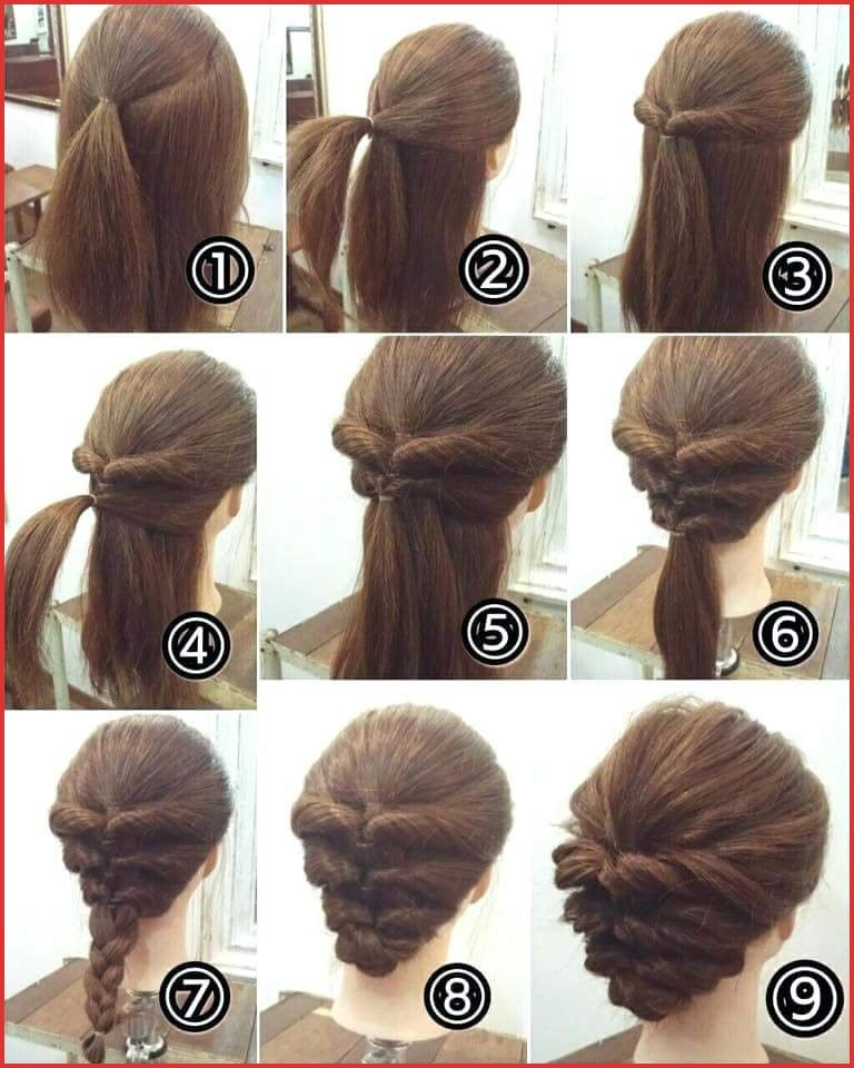 Easy Updo For Long Thick Hair Easy Updo For Long Thick Hair 111679 Best Quick Hairstyles Up Dos For Medium Hair Easy Updos For Medium Hair Hair Tutorials Easy