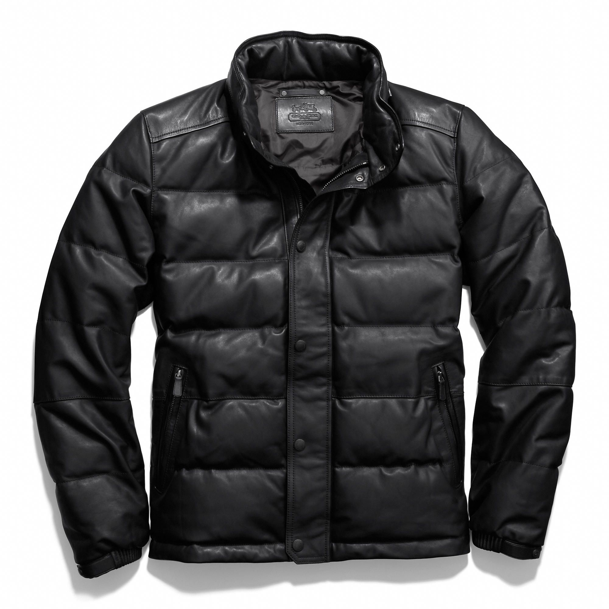 c61cca053 Coach :: CLARKSON LEATHER DOWN JACKET | Style - Leather Jackets ...