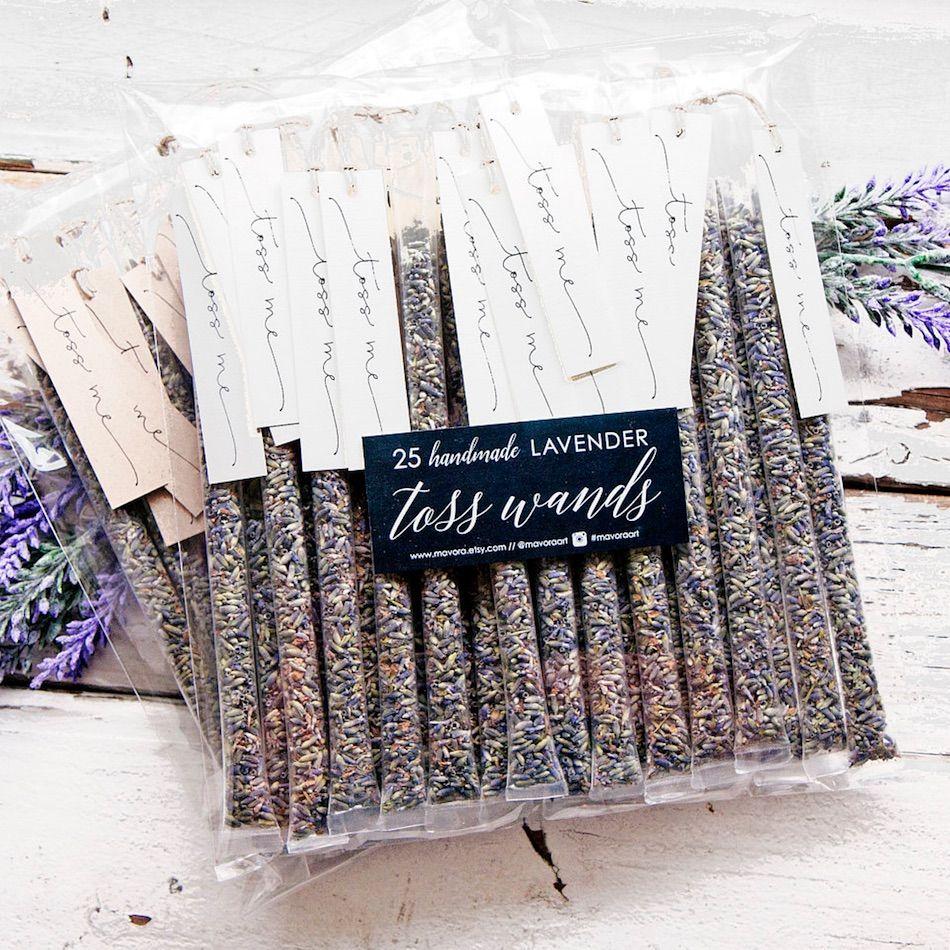 Dried Lavender Wedding Toss Wands