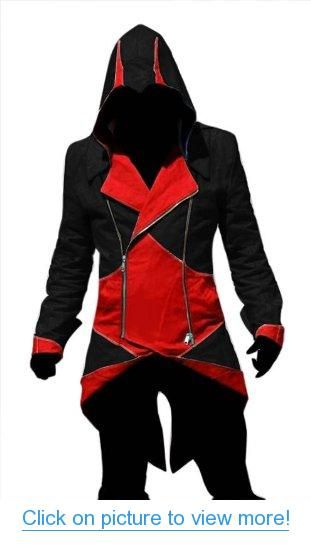 Assassin S Creed 4 Black Flag Edward Kenway Jacket Black With Red