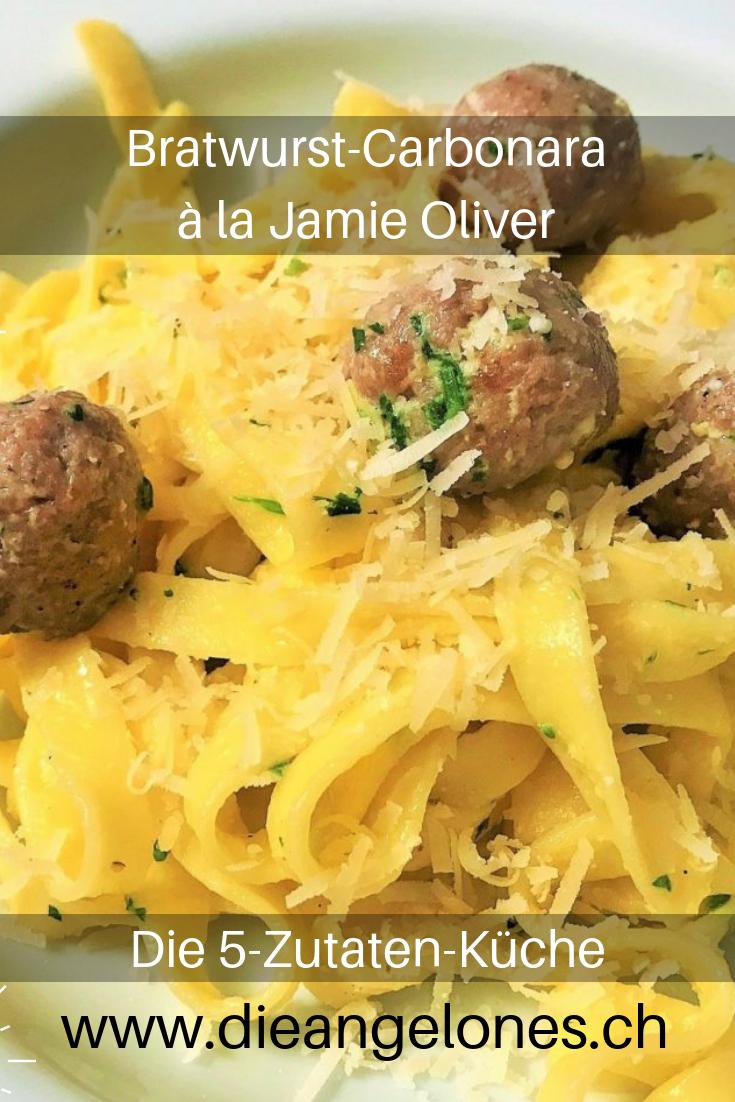 Bratwurst Carbonara Dieses Geniale 5 Zutaten Rezept Von Jamie