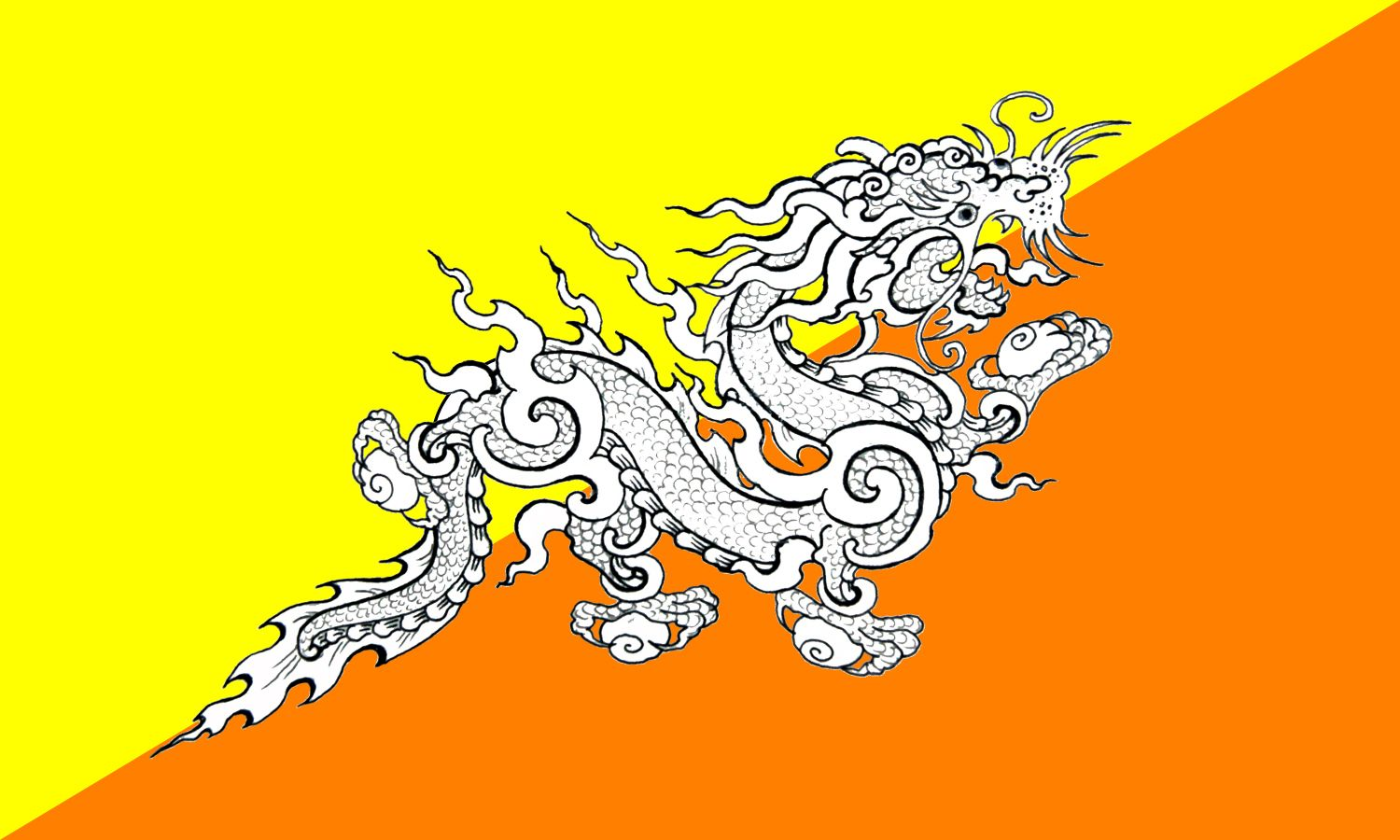Bhutan Flag Google Search Bhutan Flag National Symbols Flag Design