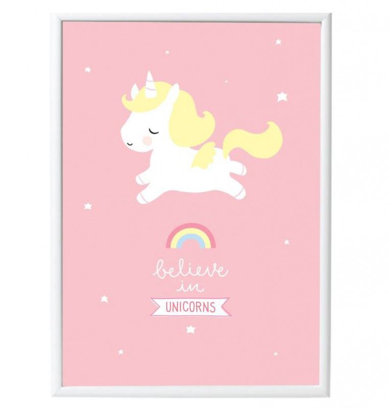 Affiche Licorne bébé