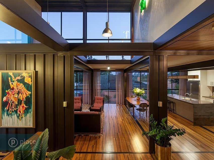 6 000 Sq Ft Luxury Shipping Container House By Zieglerbuild Container House Container House Interior Container House Design