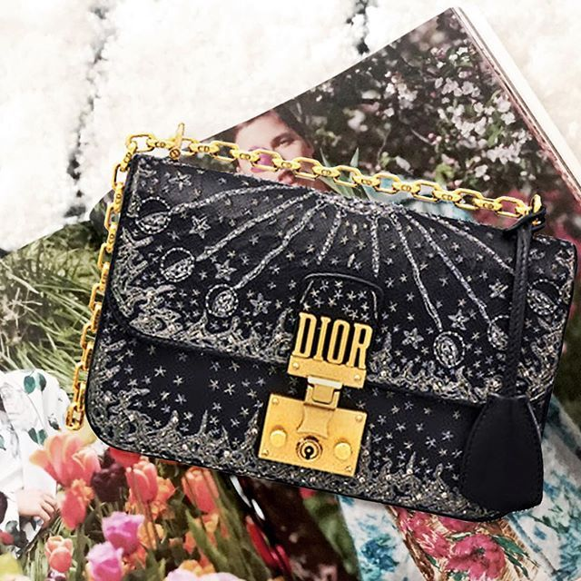 c285ad05827 How fabulous is this celestial bag by Dior   I m crushing on this season s  popular theme! Dress the Dior bag up or down either way this bag can go  with the ...