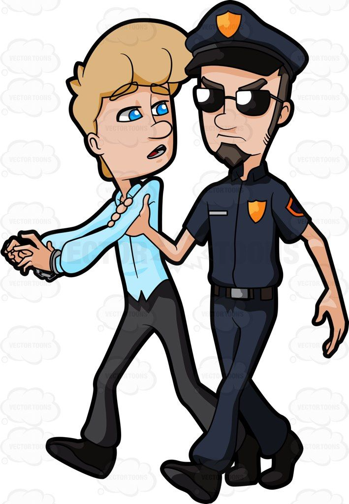 A Woman Being Arrested By A Cop | Vector clipart, Products and Police
