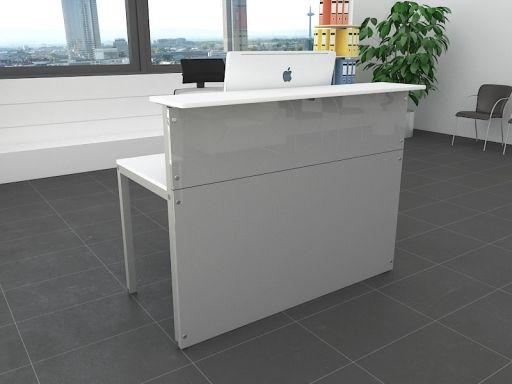 Bureau accueil pas cher bureau design bois et blanc eyebuy