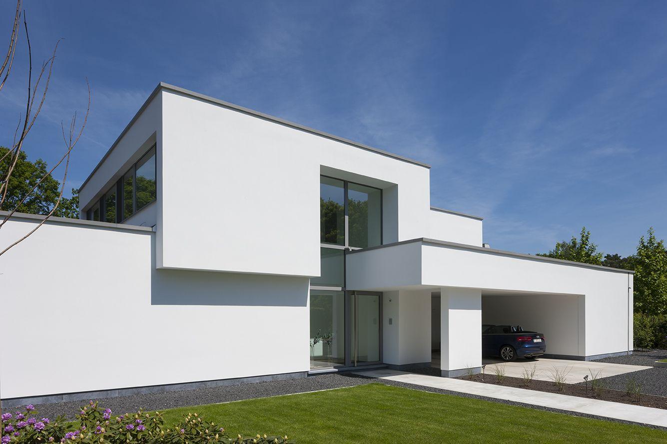 Fotograferen van een moderne witte woning te zoersel van architecte anja vissers foto 39 s for Moderne huis foto