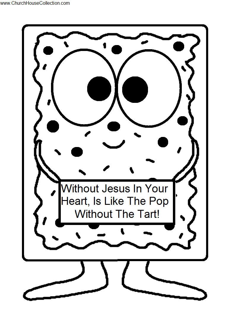 Poptart Printable Cutout Template Coloring Page for kids Preschool