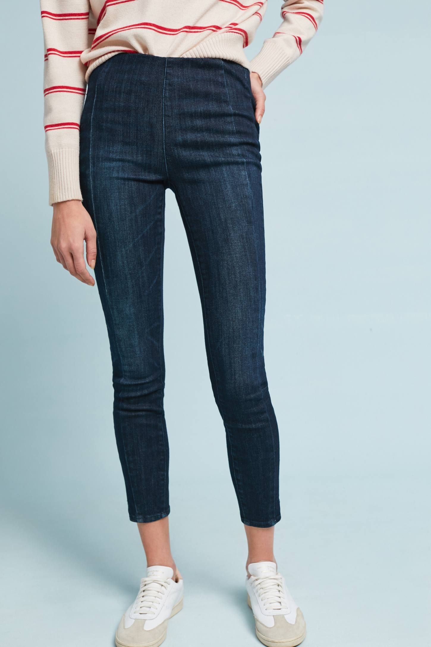 28937f419e9 Shop the Pilcro High-Rise Ankle Denim Leggings and more Anthropologie at  Anthropologie today. Read customer reviews