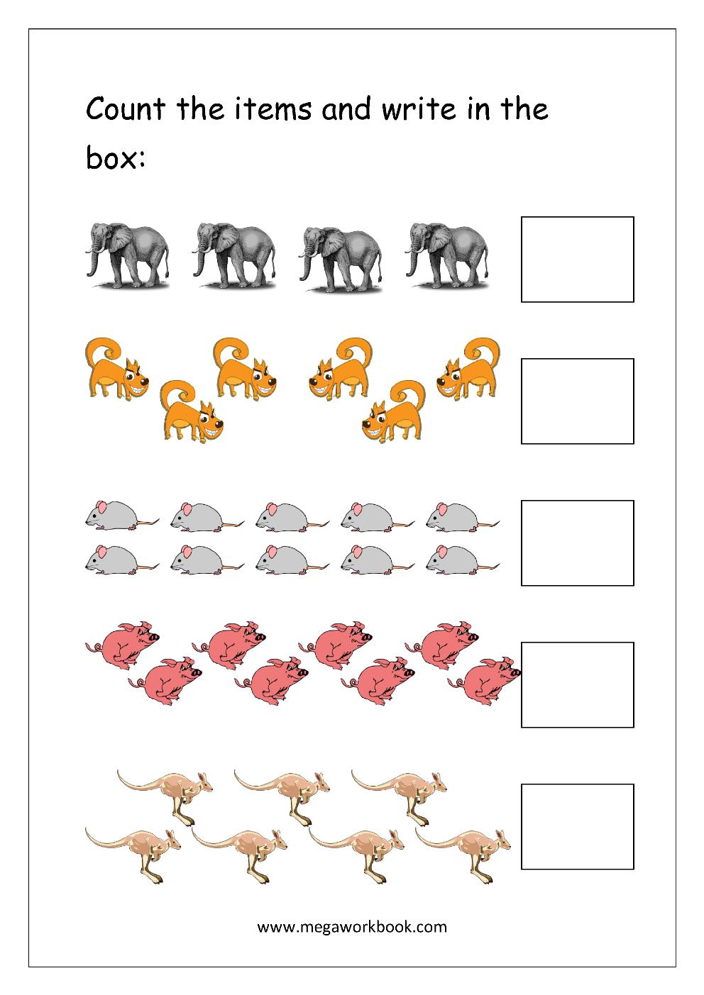 Strong Em Math Worksheet Count And Write 1 10 Em Strong Kids Math Worksheets Free Printable Math Worksheets Kindergarten Math Worksheets Printables [ 1403 x 992 Pixel ]