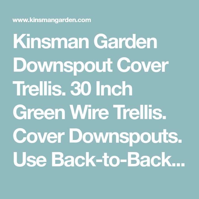 Downspout Cover Trellis | Downspouts | Pinterest | Wire trellis and ...