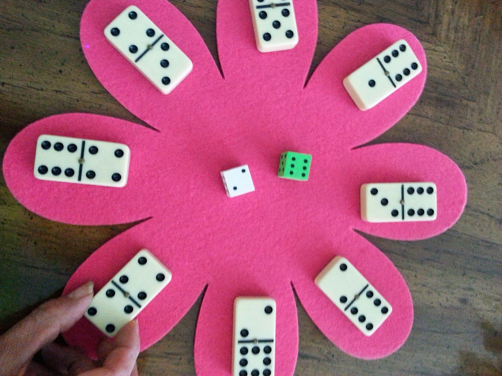 Spring Math Games With Dice And Dominos