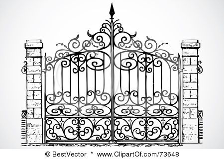 Gates Coloring Page Google Search With Images Wrought Iron
