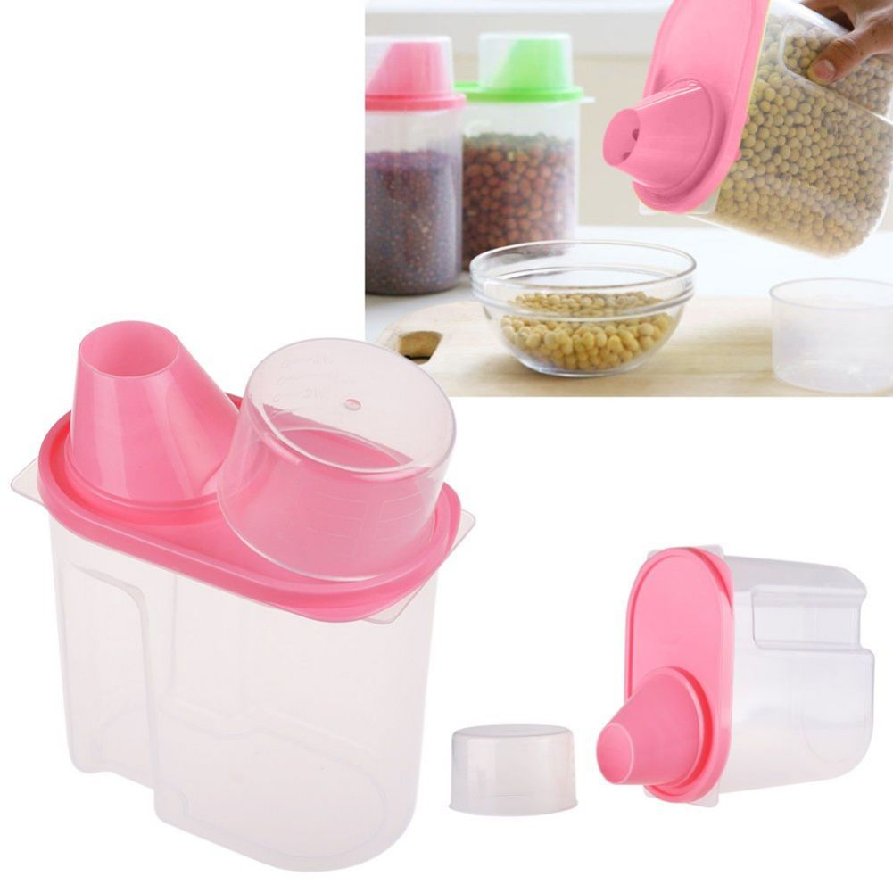 Food Grain Plastic Candy Storage Box Grain Bean Rice Containers