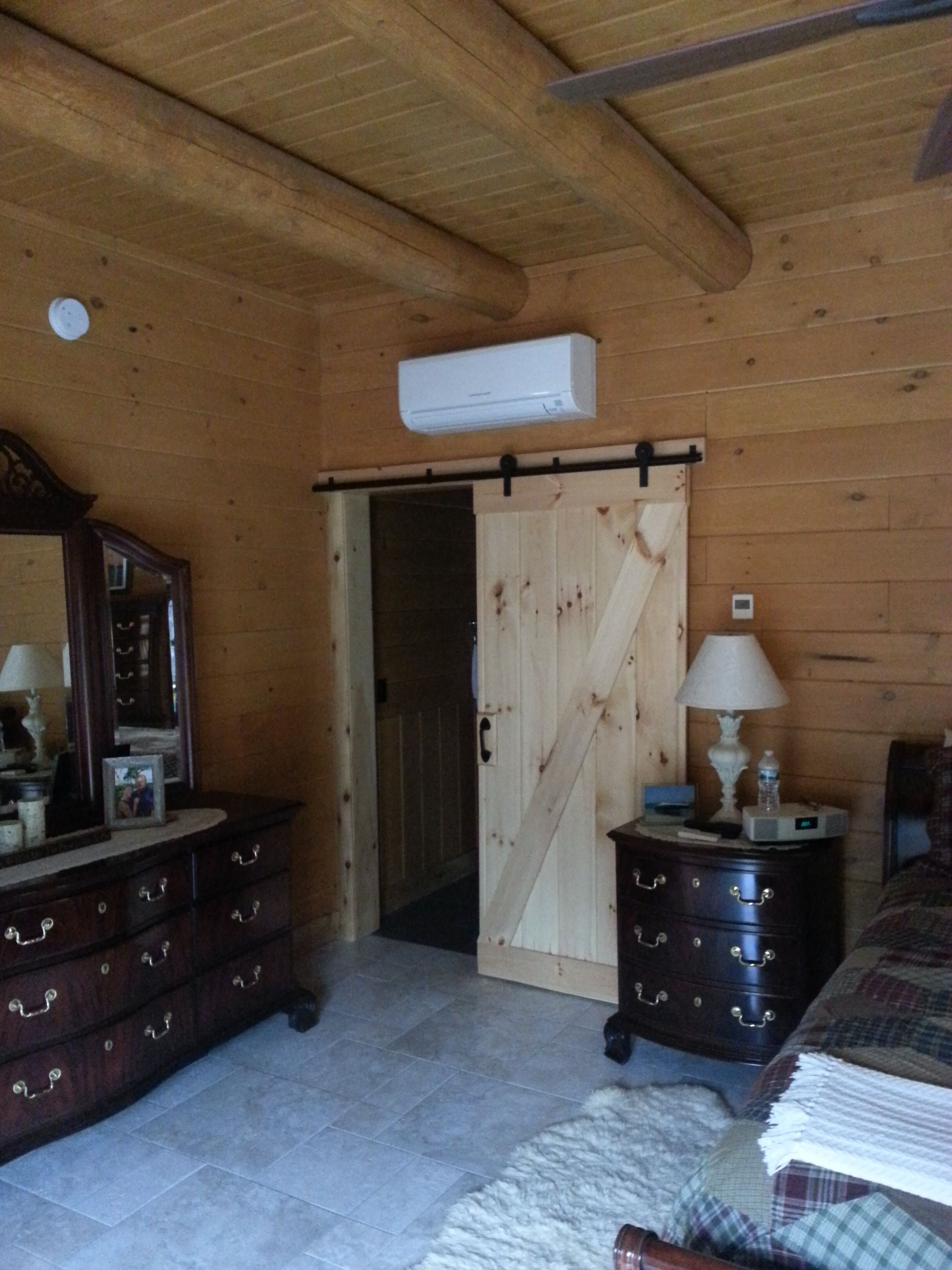 Sliding barn doors seem to be ing popular in log homes What do